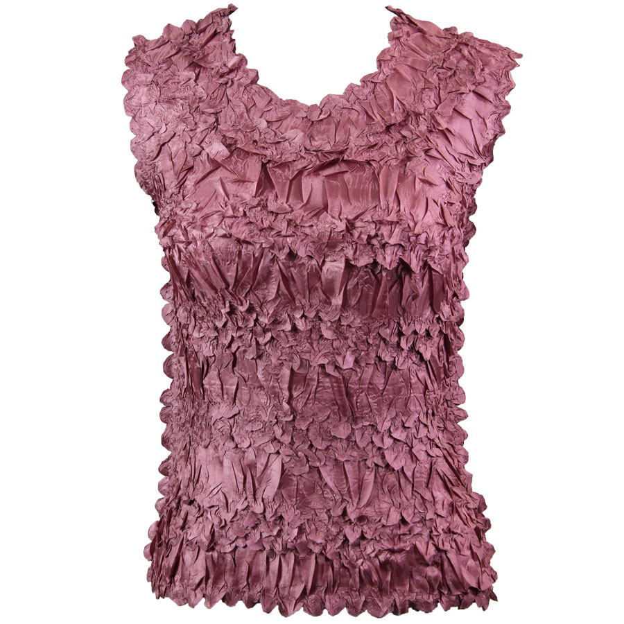 Wholesale Origami - Sleeveless Solid Dusty Purple - One Size (S-XL)