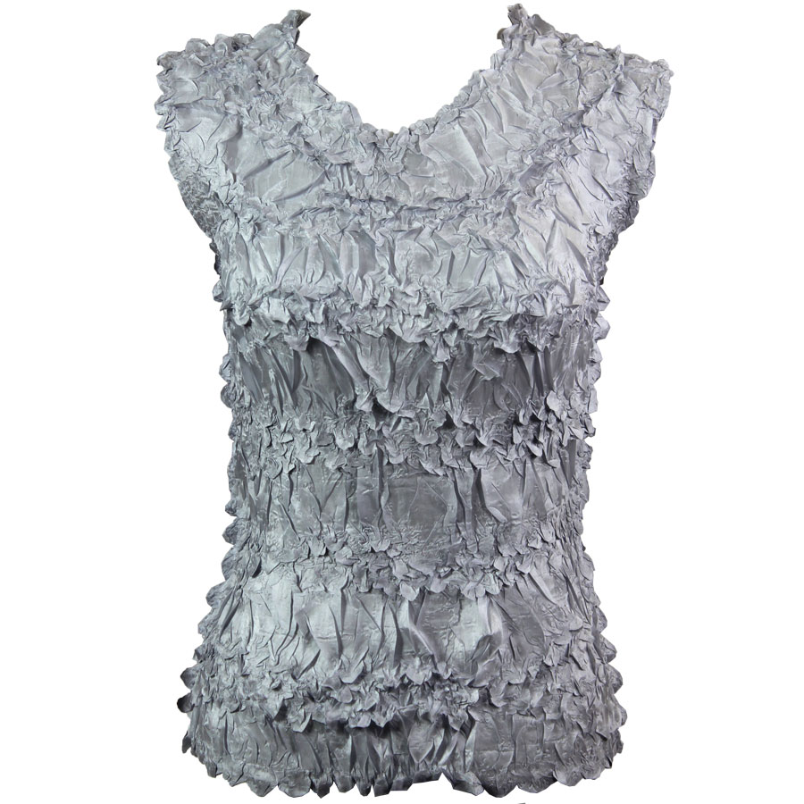 Wholesale Origami - Sleeveless Solid Platinum - One Size (S-XL)