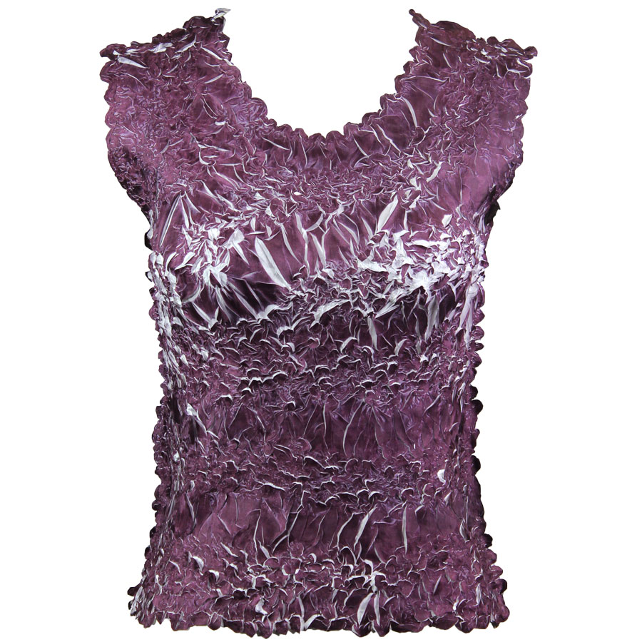 Wholesale Origami - Sleeveless Purple - White - One Size (S-XL)