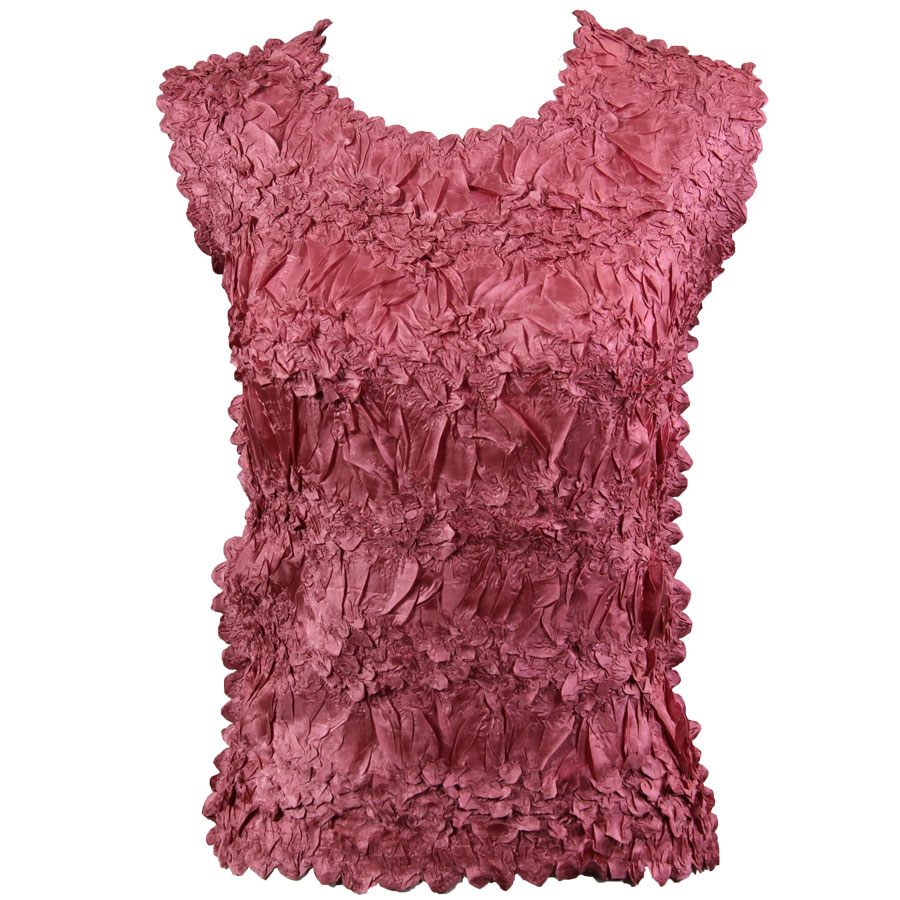 Wholesale Origami - Sleeveless Solid Coral Pink - Queen Size Fits (XL-3X)