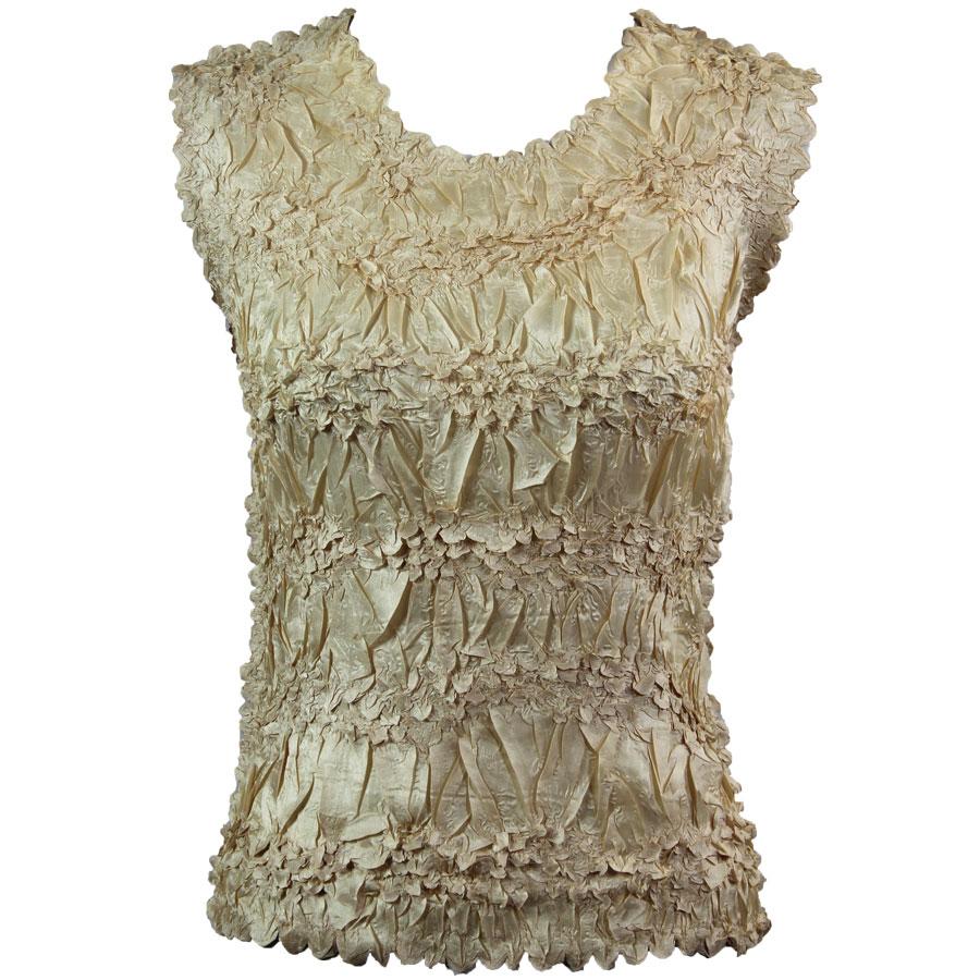 Wholesale Origami - Sleeveless Solid Light Gold - Queen Size Fits (XL-3X)