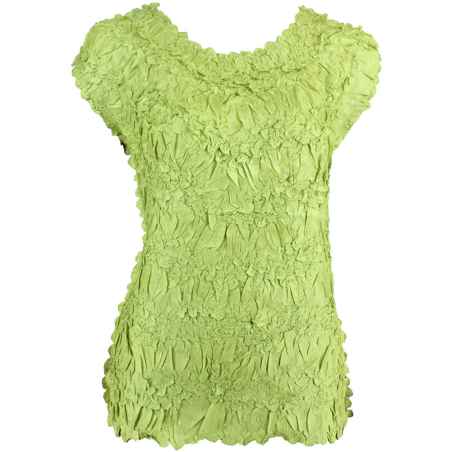 Wholesale Origami - Sleeveless Solid Green - Queen Size Fits (XL-3X)