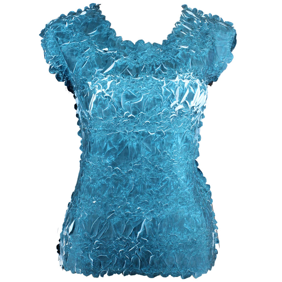 Wholesale Origami - Sleeveless Deep Teal - White - Queen Size Fits (XL-3X)