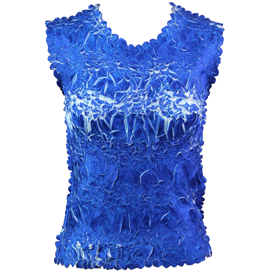Wholesale Origami - Sleeveless Royal - White - Queen Size Fits (XL-3X)