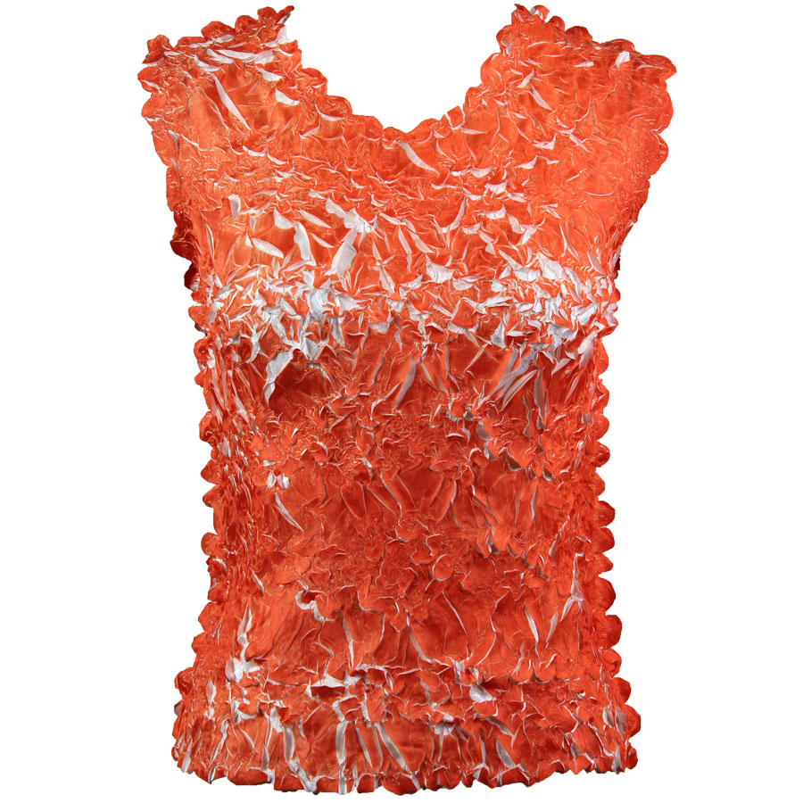 Wholesale Origami - Sleeveless Orange - White - One Size (S-XL)