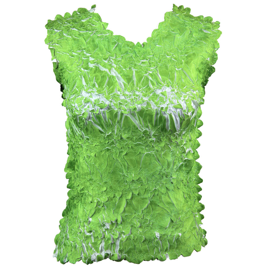 Wholesale Origami - Sleeveless Green Apple - White - One Size (S-XL)
