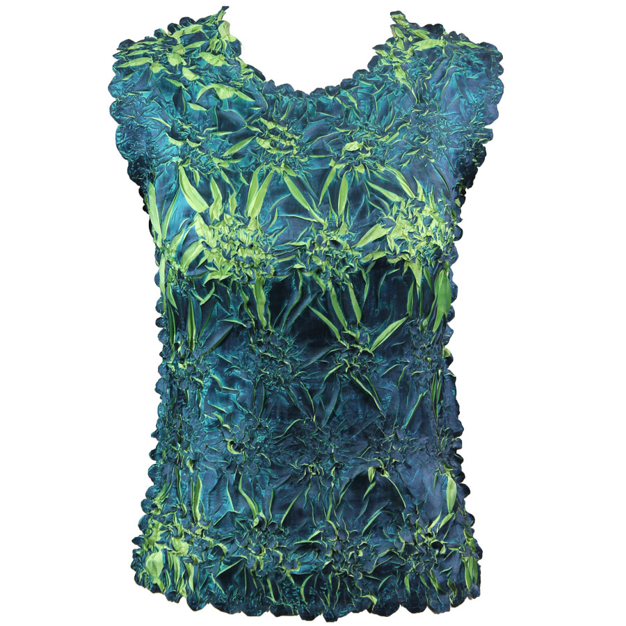 Wholesale Origami - Sleeveless Navy - Light Green - One Size (S-XL)