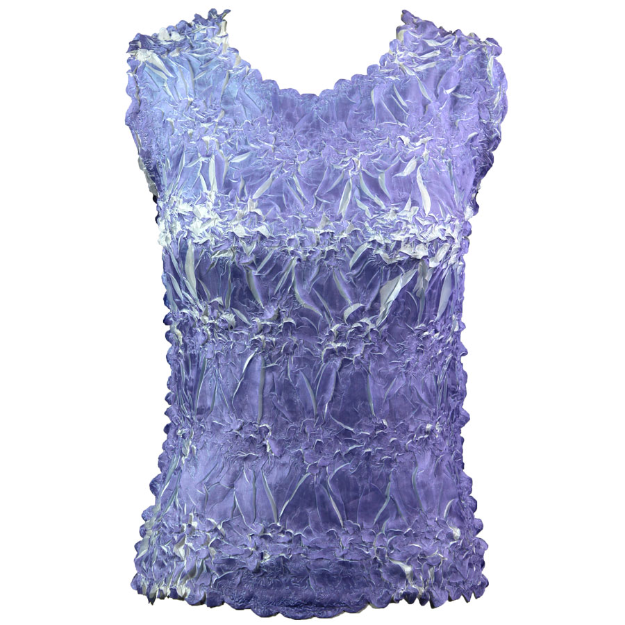 Wholesale Origami - Sleeveless Violet - White - One Size (S-XL)