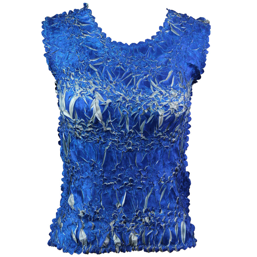 Wholesale Origami - Sleeveless Royal - Silver - One Size (S-XL)