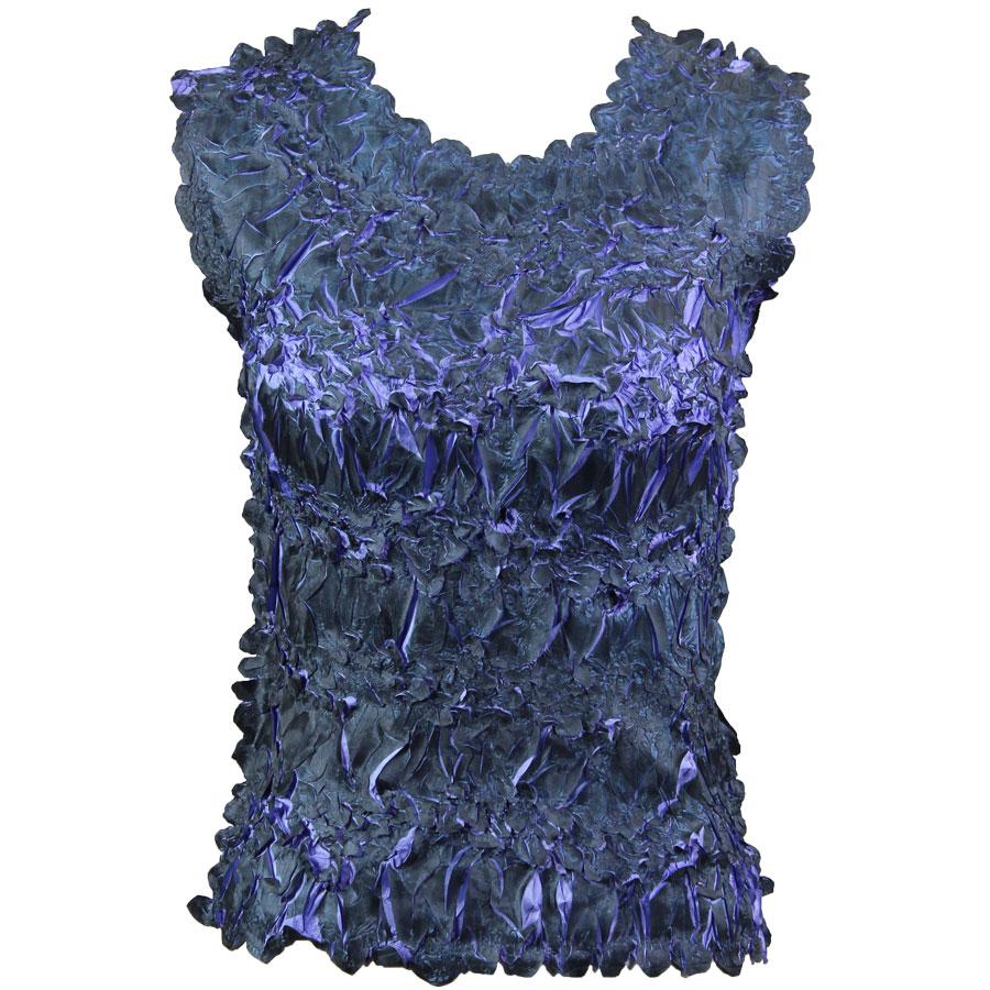 Wholesale Origami - Sleeveless Black - Violet - One Size (S-XL)