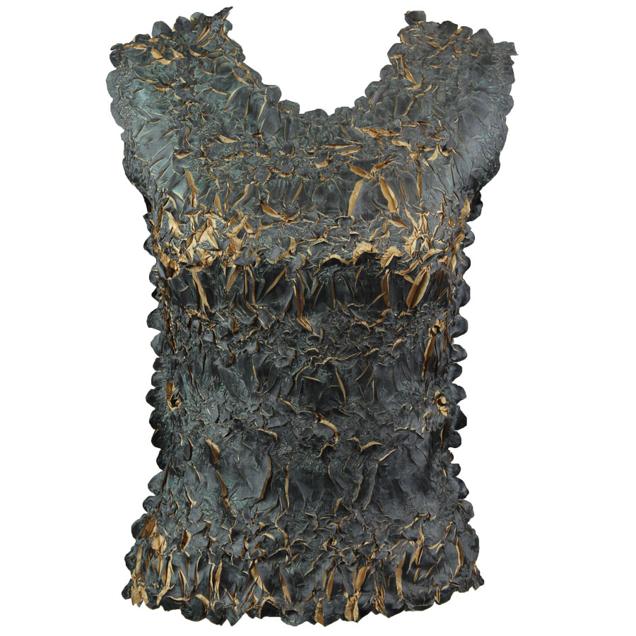 Wholesale Origami - Sleeveless Black - Gold - One Size (S-XL)