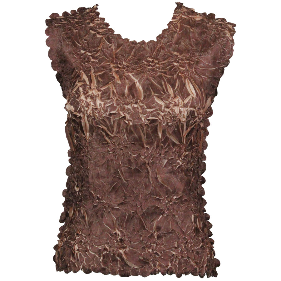 Wholesale Origami - Sleeveless Chocolate - Champagne - Queen Size Fits (XL-3X)