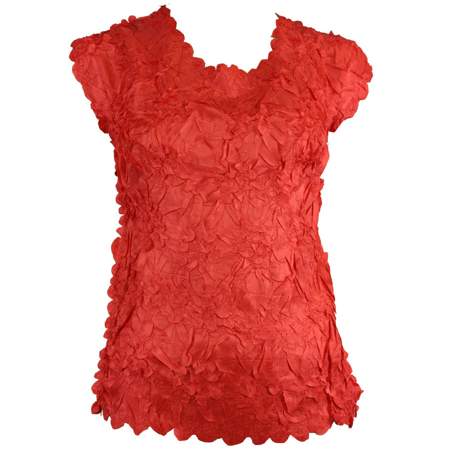 Wholesale Origami - Sleeveless Solid Red - Queen Size Fits (XL-3X)