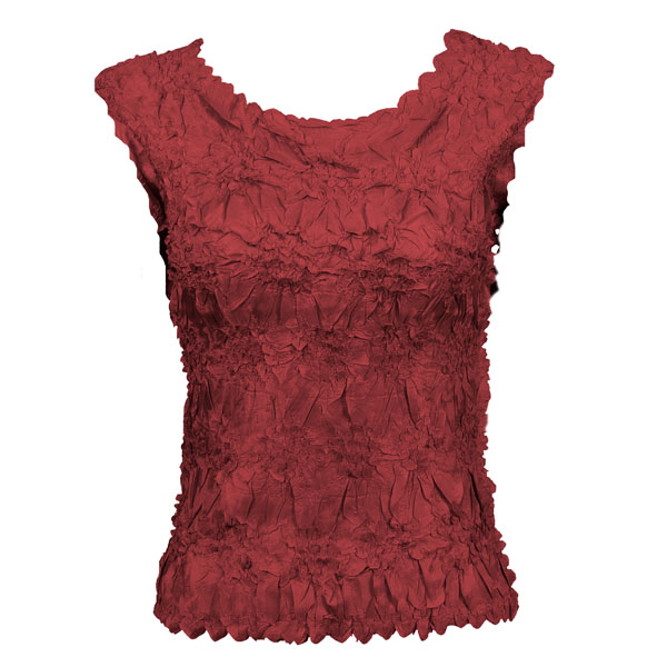 Wholesale Origami - Sleeveless Solid Cranberry - Queen Size Fits (XL-3X)