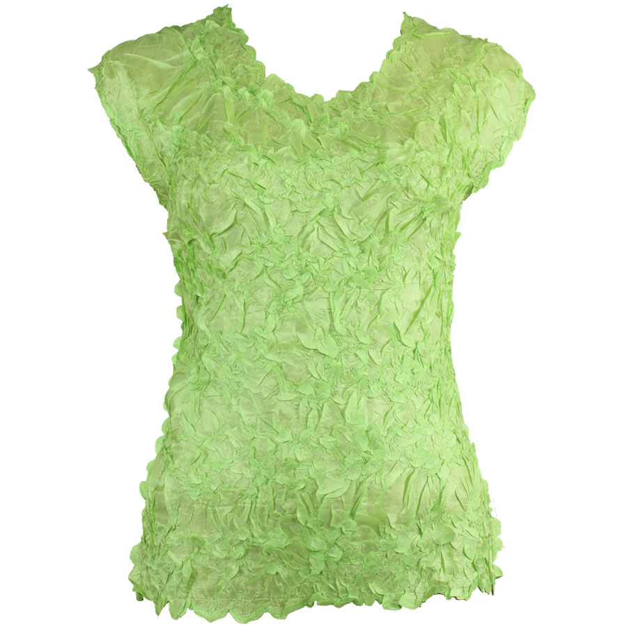 Wholesale Origami - Sleeveless Solid Spring Green - One Size (S-XL)