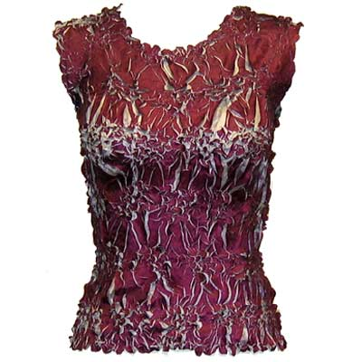 Wholesale Origami - Sleeveless Wine - Silver - One Size (S-XL)
