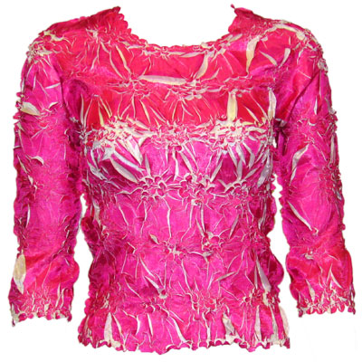 Wholesale Origami - Three Quarter Sleeve Pink - White - One Size (S-XL)