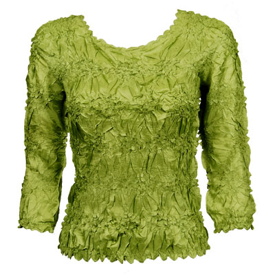 Wholesale Origami - Three Quarter Sleeve Solid Leaf Green - One Size (S-XL)