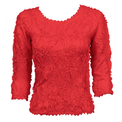 Wholesale Origami - Three Quarter Sleeve Solid Red - One Size (S-XL)