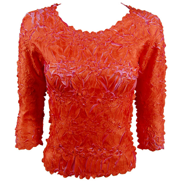 Wholesale Origami - Three Quarter Sleeve Orange - Flamingo - Queen Size Fits (XL-3X)
