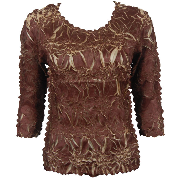 Wholesale Origami - Three Quarter Sleeve Chocolate - Champagne - One Size (S-XL)