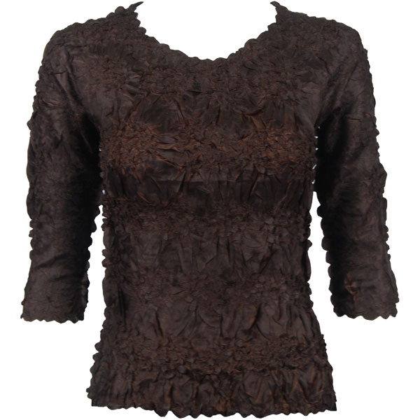 Wholesale Origami - Three Quarter Sleeve Java - Chocolate - Queen Size Fits (XL-3X)