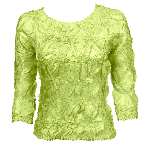 Wholesale Origami - Three Quarter Sleeve Solid Lime - Queen Size Fits (XL-3X)