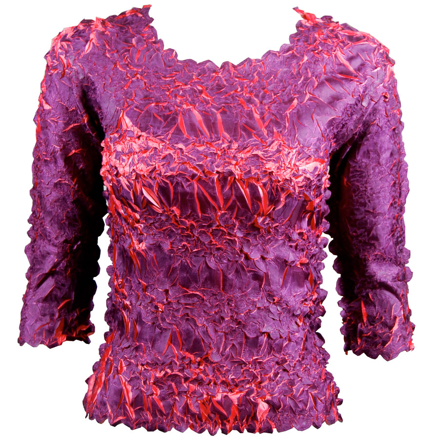 Wholesale Origami - Three Quarter Sleeve Purple - Coral - One Size (S-XL)
