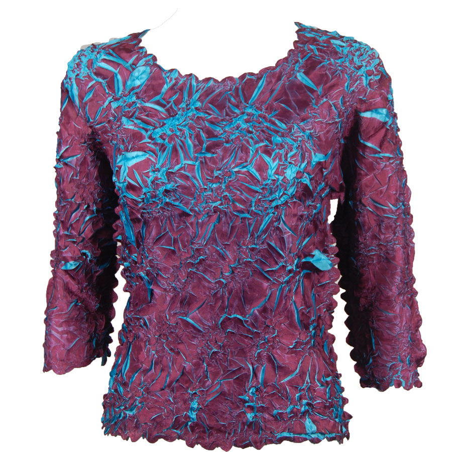 Wholesale Origami - Three Quarter Sleeve Plum - Teal - One Size (S-XL)