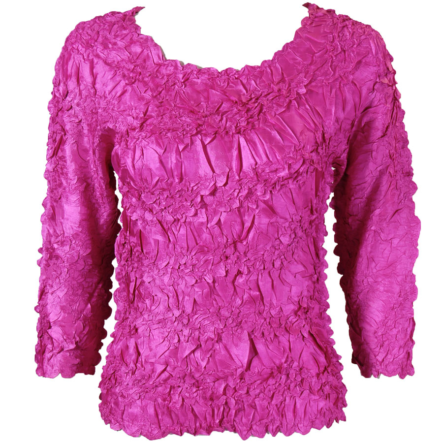 Wholesale Origami - Three Quarter Sleeve Solid Orchid - One Size (S-XL)