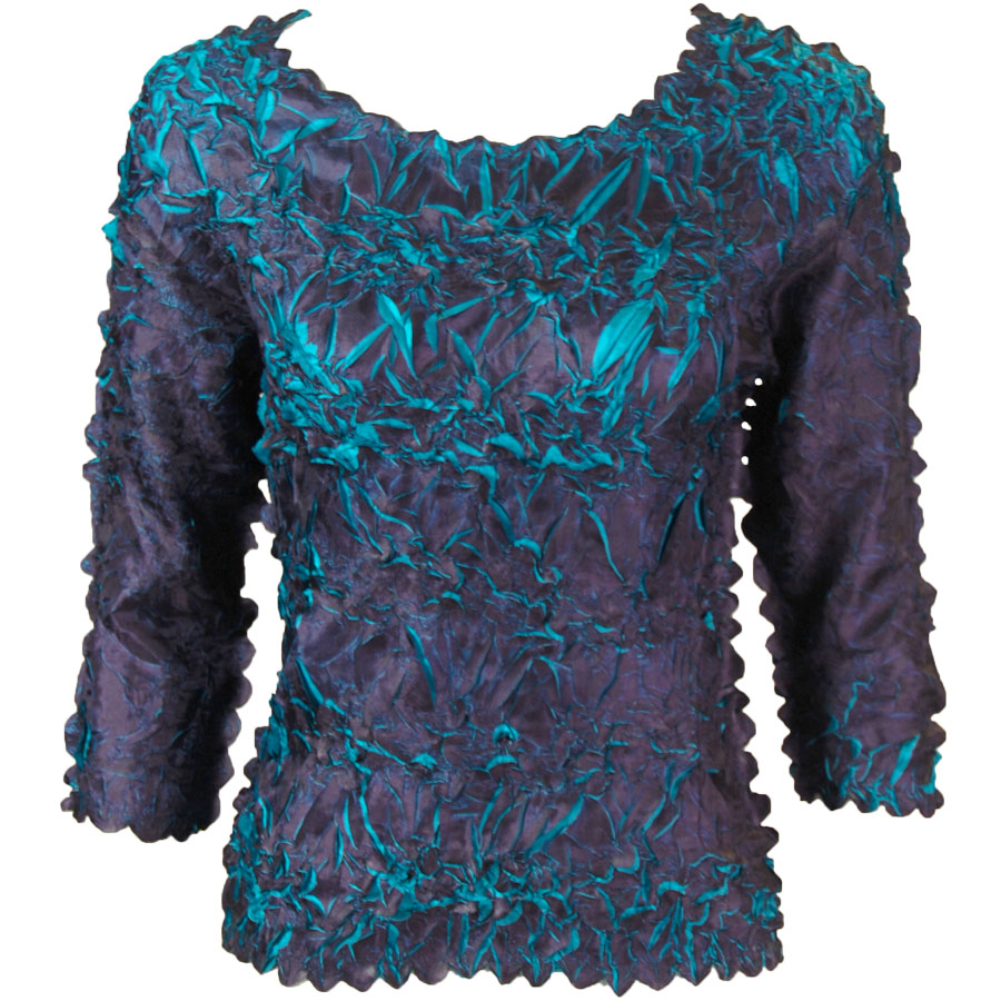 Wholesale Origami - Three Quarter Sleeve Dark Purple - Teal - One Size (S-XL)