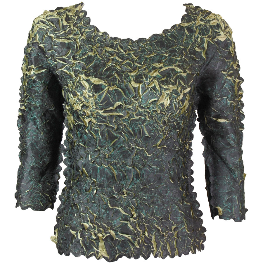 Wholesale Origami - Three Quarter Sleeve Dark Olive - Leaf Green - One Size (S-XL)