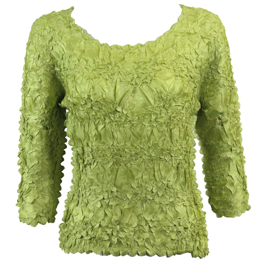 Wholesale Origami - Three Quarter Sleeve Solid Green - One Size (S-XL)