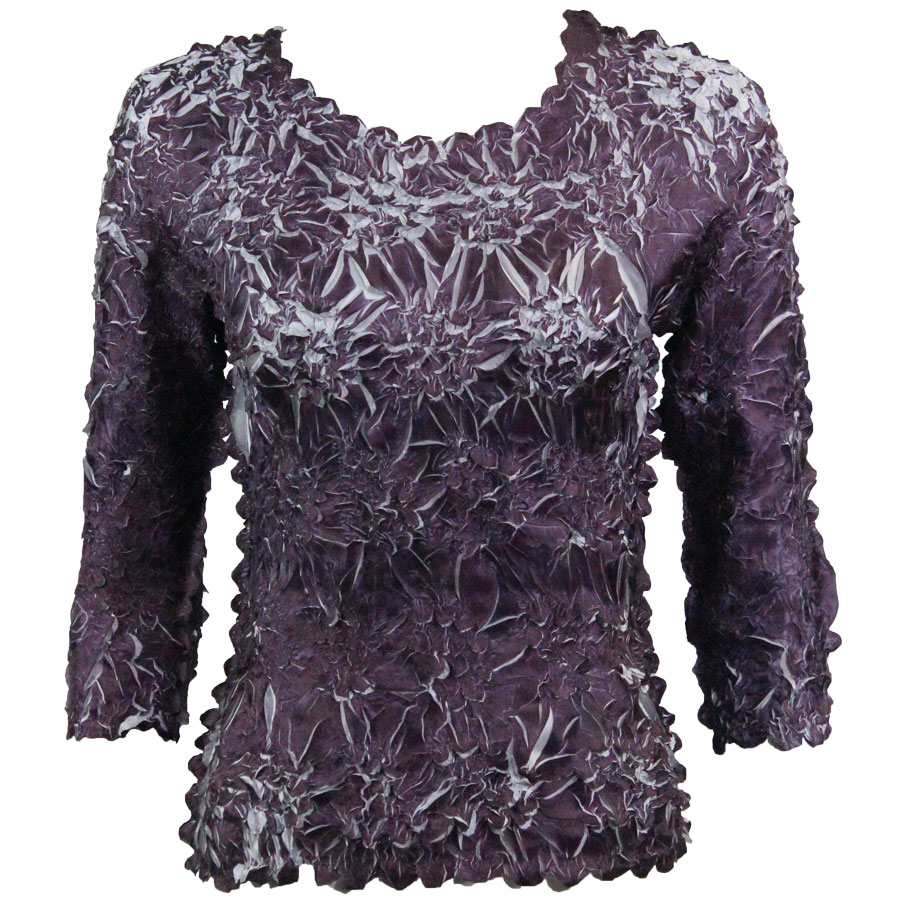 Wholesale Origami - Three Quarter Sleeve Purple - Platinum - One Size (S-XL)