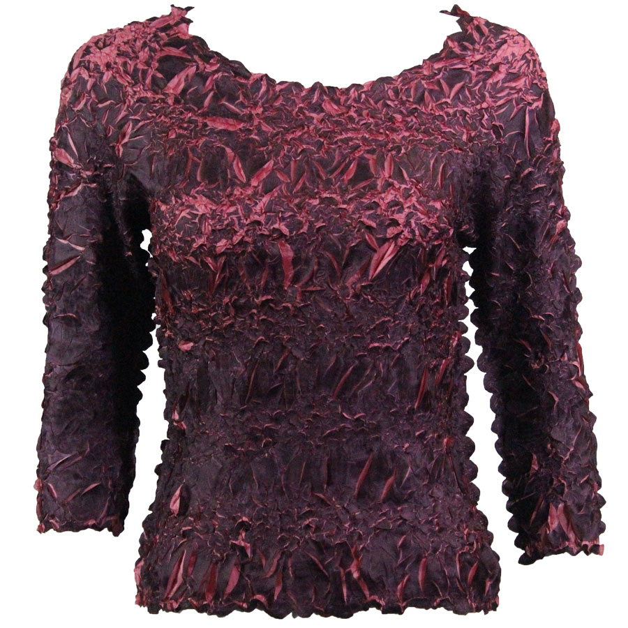 Wholesale Origami - Three Quarter Sleeve Purple - Coral Pink - One Size (S-XL)