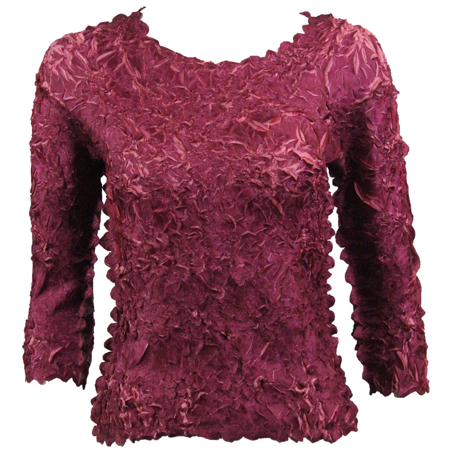 Wholesale Origami - Three Quarter Sleeve Plum - Coral Pink - One Size (S-XL)