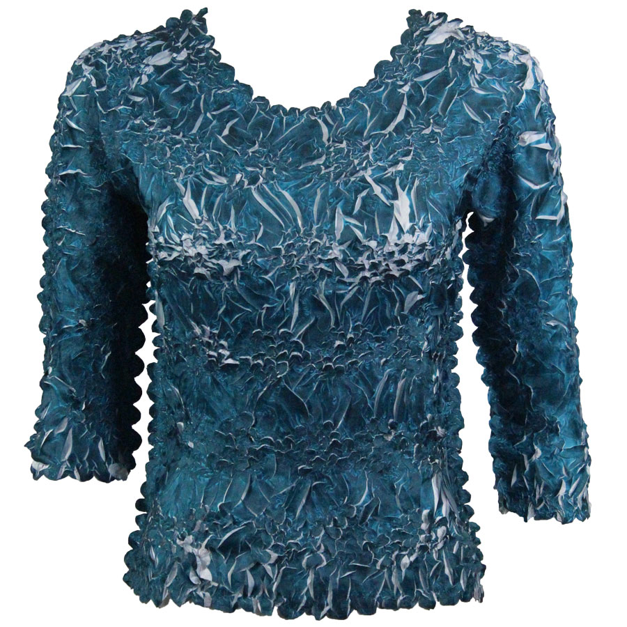 Wholesale Origami - Three Quarter Sleeve Deep Teal - Platinum - One Size (S-XL)
