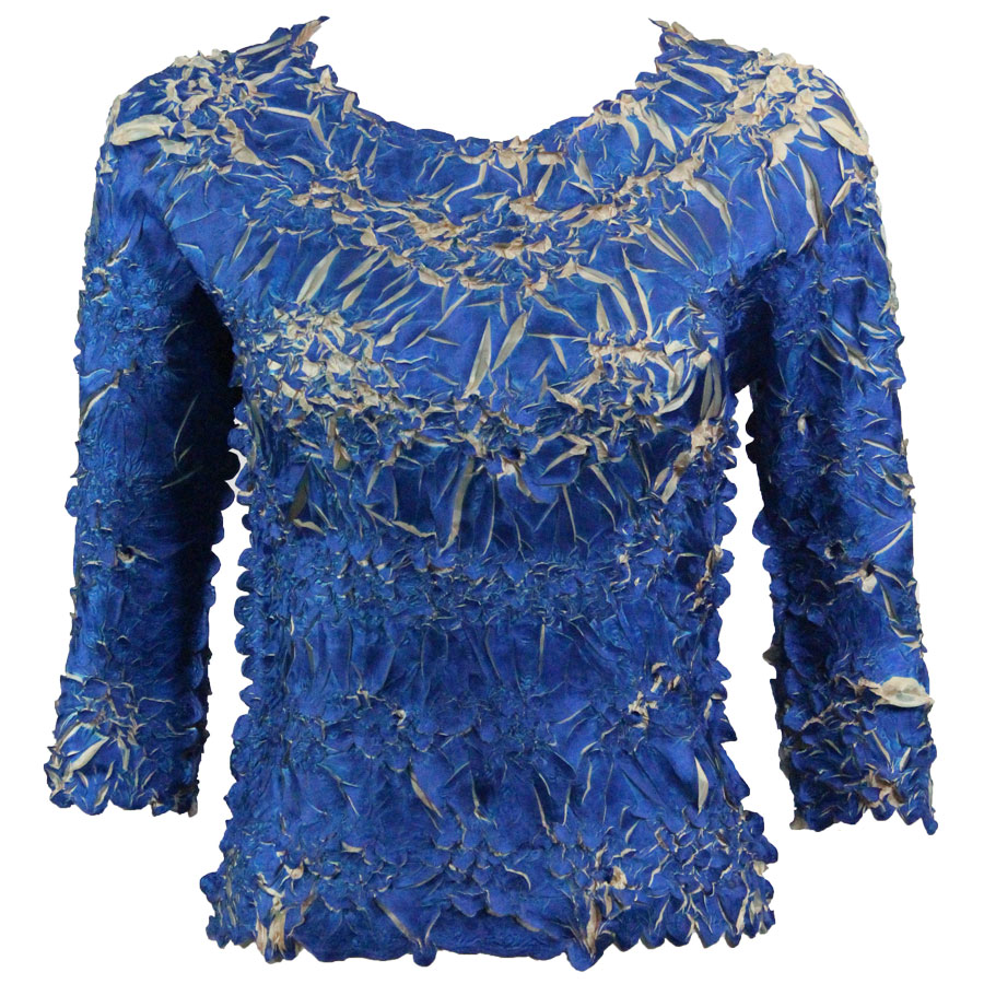 Wholesale Origami - Three Quarter Sleeve Royal - Light Gold - One Size (S-XL)