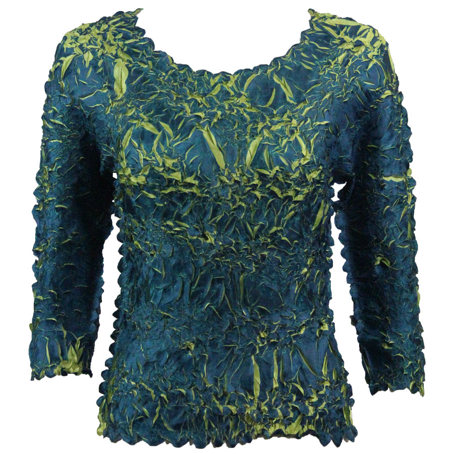 Wholesale Origami - Three Quarter Sleeve Royal - Green - One Size (S-XL)