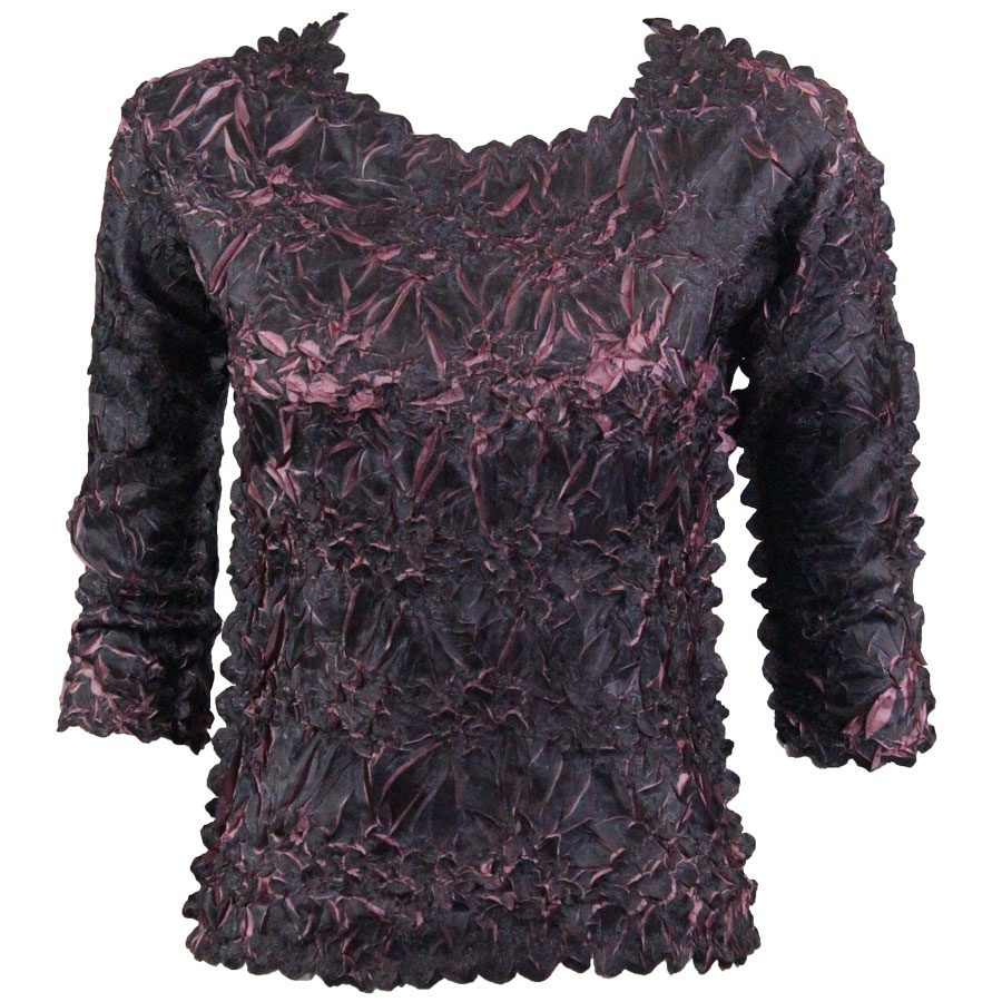 Wholesale Origami - Three Quarter Sleeve Black - Dusty Purple - One Size (S-XL)