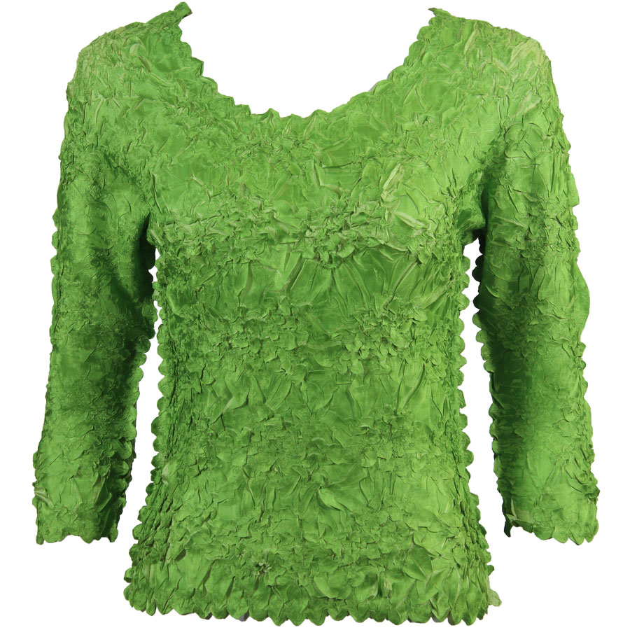 Wholesale Origami - Three Quarter Sleeve Green Apple - Light Green - One Size (S-XL)