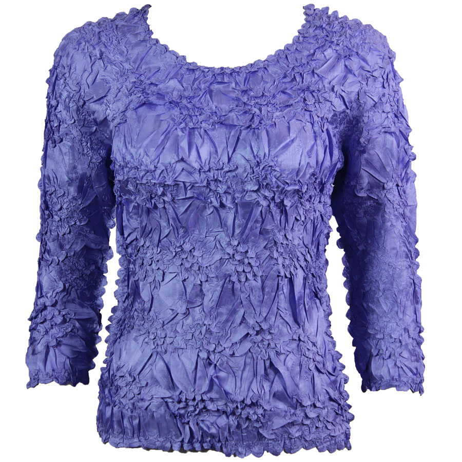 Wholesale Origami - Three Quarter Sleeve Solid Violet - One Size (S-XL)