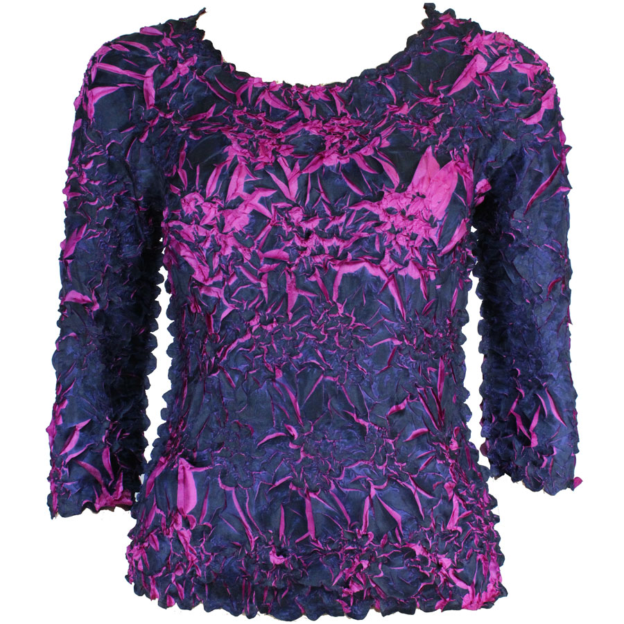 Wholesale Origami - Three Quarter Sleeve Purple - Fuchsia - One Size (S-XL)