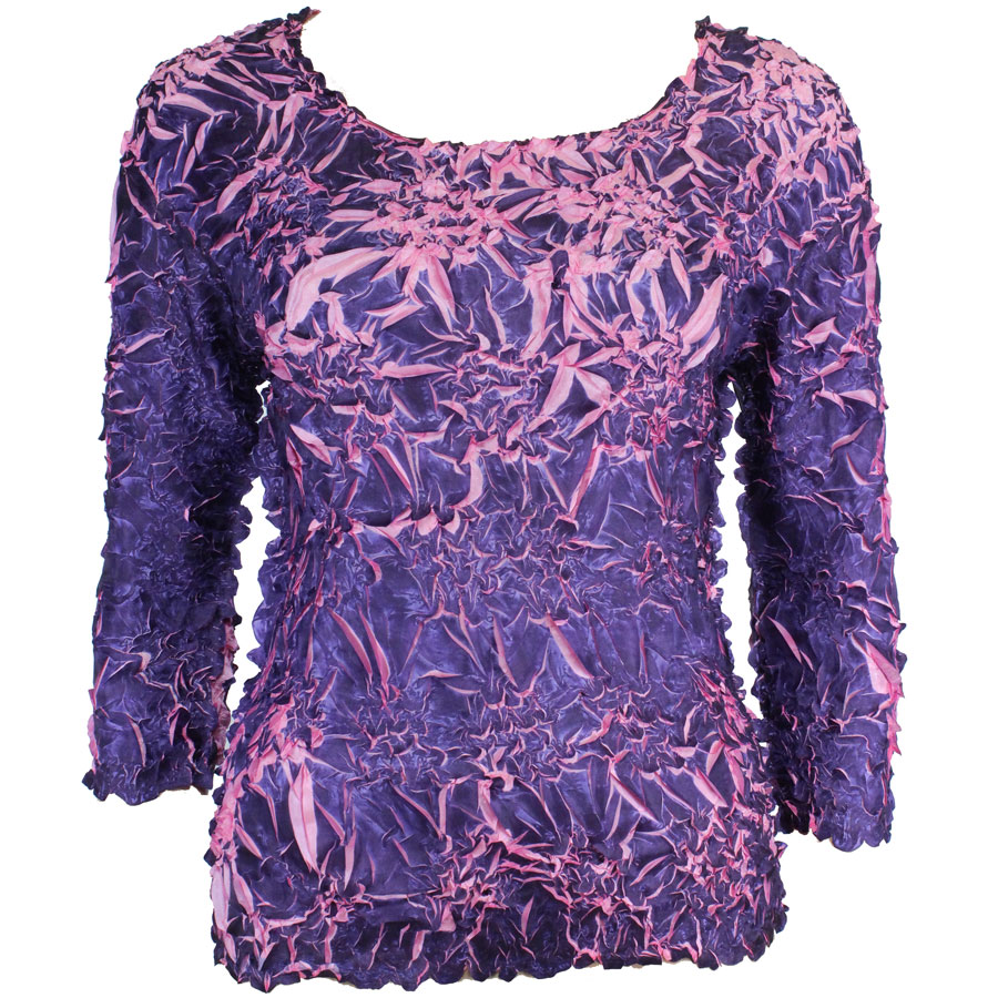 Wholesale Origami - Three Quarter Sleeve Purple - Light Pink - One Size (S-XL)