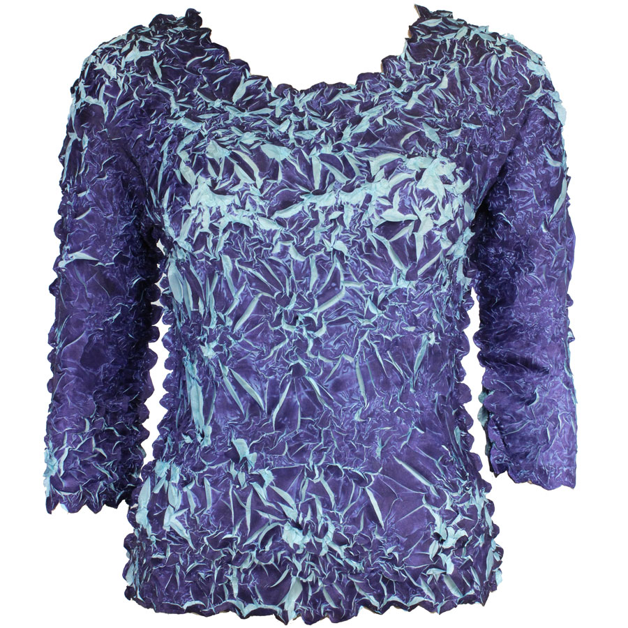Wholesale Origami - Three Quarter Sleeve Purple - Light Blue - One Size (S-XL)