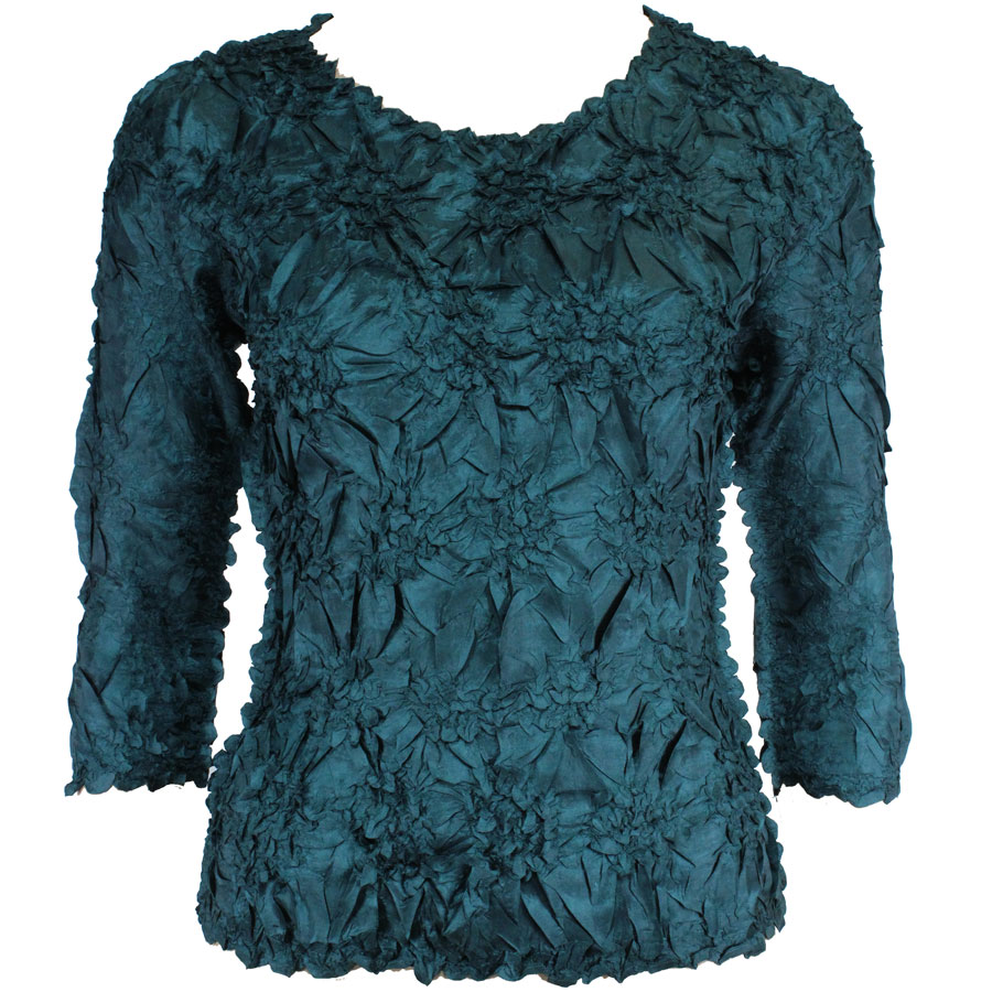 Wholesale Origami - Three Quarter Sleeve Solid Dark Green - One Size (S-XL)