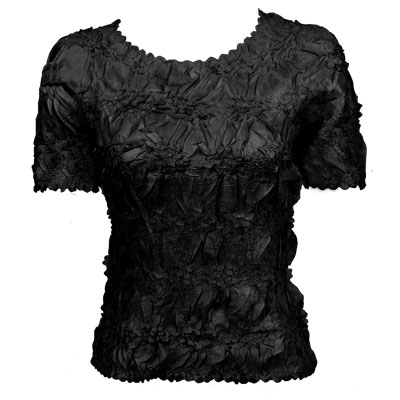 Wholesale Origami - Short Sleeve Solid Black - One Size (S-XL)