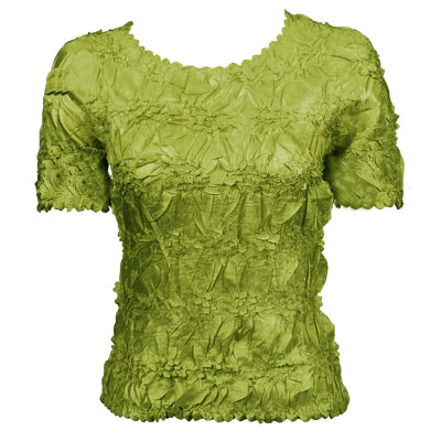 Wholesale Origami - Short Sleeve Solid Leaf Green - One Size (S-XL)
