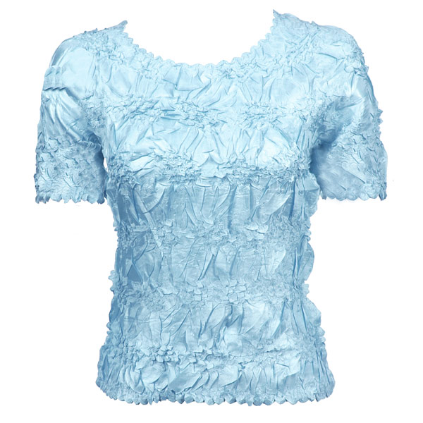 Wholesale Origami - Short Sleeve Solid Light Blue - One Size (S-XL)