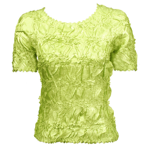 Wholesale Origami - Short Sleeve Solid Lime - One Size (S-XL)